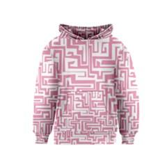 Pink pattern Kids  Pullover Hoodie