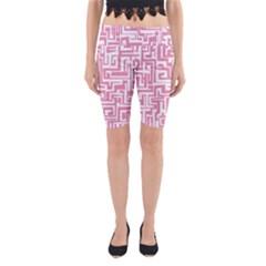 Pink pattern Yoga Cropped Leggings