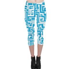 Pattern Capri Leggings