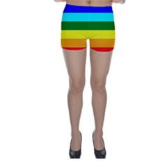 Rainbow Skinny Shorts