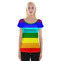 Rainbow Women s Cap Sleeve Top