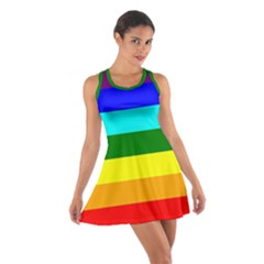 Rainbow Cotton Racerback Dress