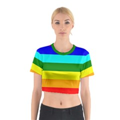 Rainbow Cotton Crop Top