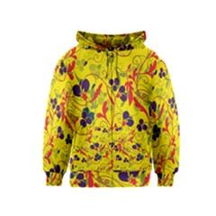 Floral pattern Kids  Zipper Hoodie