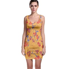 Floral pattern Sleeveless Bodycon Dress