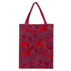 Red floral pattern Classic Tote Bag