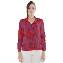 Red floral pattern Wind Breaker (Women)