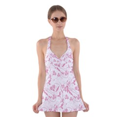 Floral pattern Halter Swimsuit Dress