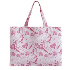 Floral pattern Medium Zipper Tote Bag