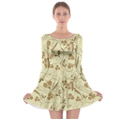 Floral pattern Long Sleeve Skater Dress
