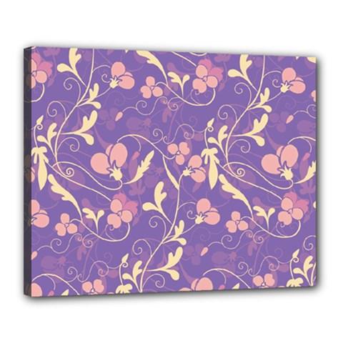 Floral pattern Canvas 20  x 16