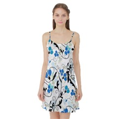 Floral pattern Satin Night Slip