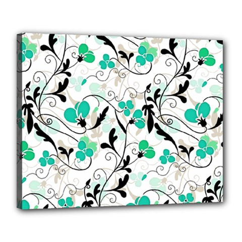 Floral pattern Canvas 20  x 16