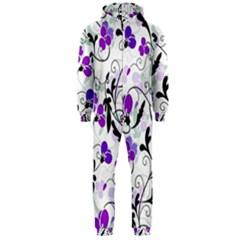 Floral pattern Hooded Jumpsuit (Men)
