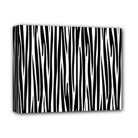Zebra pattern Deluxe Canvas 14  x 11