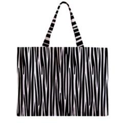 Zebra pattern Zipper Mini Tote Bag