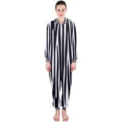 Zebra Pattern Hooded Jumpsuit (ladies)