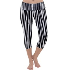 Zebra pattern Capri Yoga Leggings
