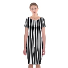 Zebra pattern Classic Short Sleeve Midi Dress