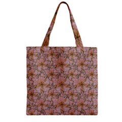 Nature Collage Print Zipper Grocery Tote Bag