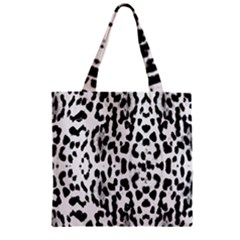 Animal print Zipper Grocery Tote Bag