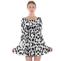 Animal print Long Sleeve Skater Dress
