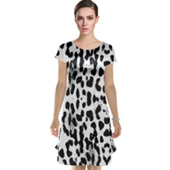 Animal print Cap Sleeve Nightdress
