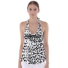 Animal print Babydoll Tankini Top