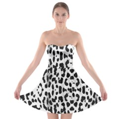 Animal print Strapless Bra Top Dress