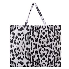Animal print Zipper Large Tote Bag