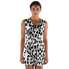 Animal print Wrap Front Bodycon Dress