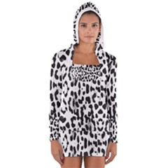 Animal print Women s Long Sleeve Hooded T-shirt