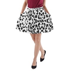 Animal print A-Line Pocket Skirt