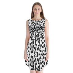 Animal print Sleeveless Chiffon Dress