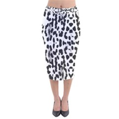 Animal print Velvet Midi Pencil Skirt