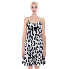 Animal print Spaghetti Strap Velvet Dress