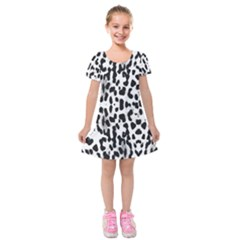 Animal print Kids  Short Sleeve Velvet Dress