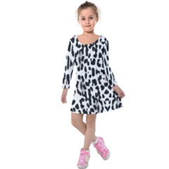 Animal print Kids  Long Sleeve Velvet Dress