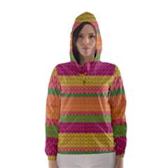 Pattern Hooded Wind Breaker (Women)