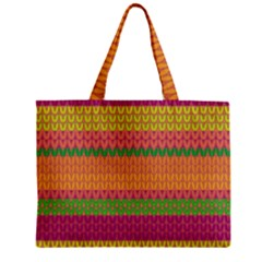 Pattern Zipper Mini Tote Bag