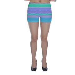 Pattern Skinny Shorts