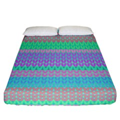 Pattern Fitted Sheet (California King Size)