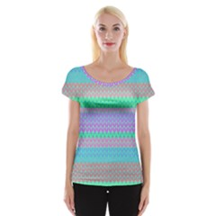 Pattern Women s Cap Sleeve Top