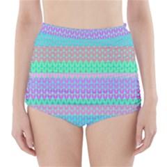 Pattern High-Waisted Bikini Bottoms