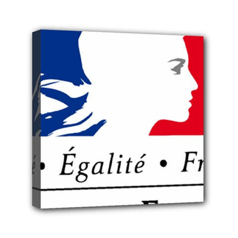 Symbol of the French Government Mini Canvas 6  x 6