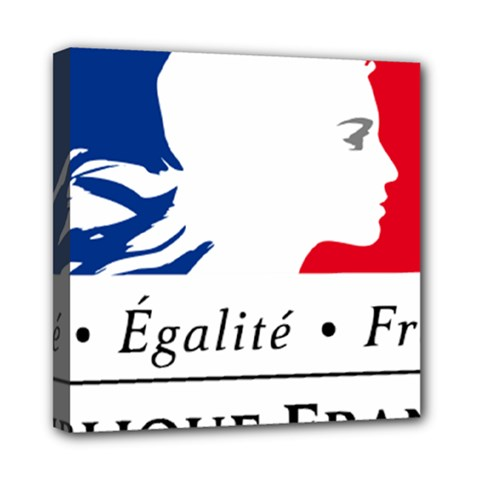 Symbol of the French Government Mini Canvas 8  x 8
