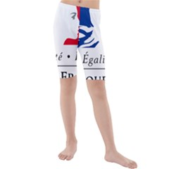 Symbol of the French Government Kids  Mid Length Swim Shorts