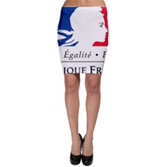 Symbol of the French Government Bodycon Skirt