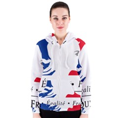 Symbol of the French Government Women s Zipper Hoodie