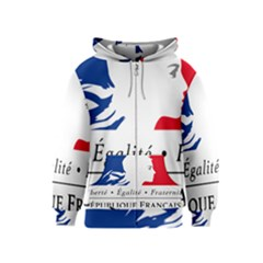 Symbol of the French Government Kids  Zipper Hoodie